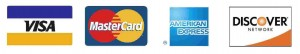 visa, mastercard, american express & discover